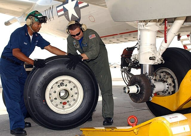 aircraft wheel and tire construction